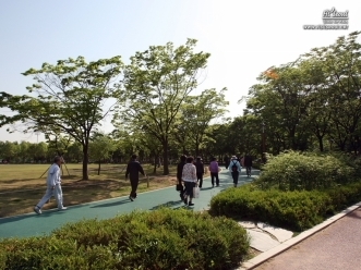 보라매공원 내에 조성한 보행 산책로