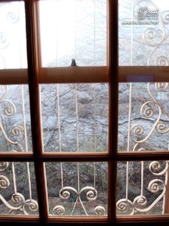 바깥 창틀의 문양들이 아름다운 옛 가옥의 창문