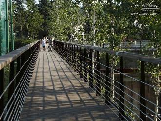 몬드리안 정원이 내려다보이는 산책로