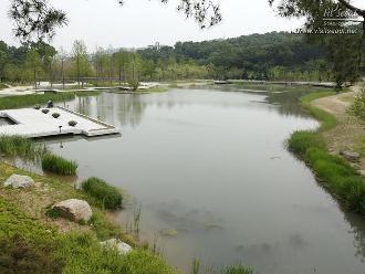 공원 중심부에 위치한 넓은 연못 '월영지'