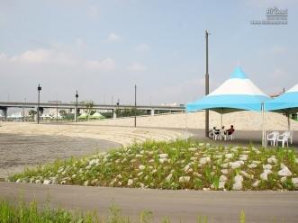 반포 한강공원 간이 천막 시설