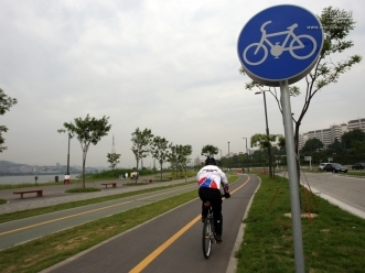 자전거 도로 전경