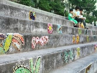 계단에 그린 그림